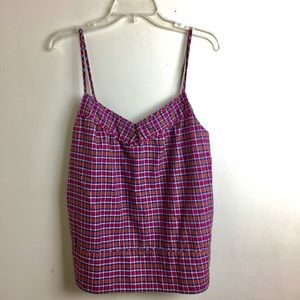J.Crew Red Plaid Strappy Tank Top 8